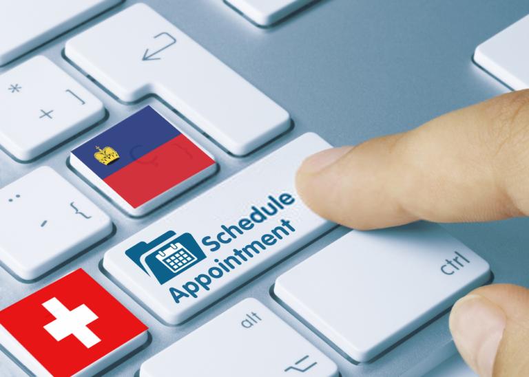 كيفية حجز موعد لإيداع ملف طلب تأشيرة شنغن سويسرا و ليختنشتاين