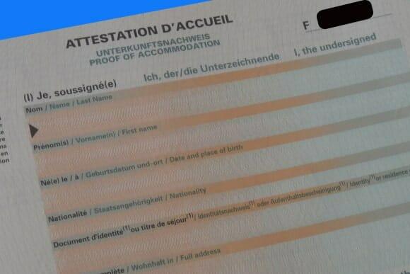 شهادة الإستقبال|Attestation Hébergement