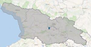 السياحة في جورجيا-خريطة جورجيا وموقع العاصمة تبليسي
