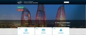 واجهة موقع تاشيرة أذربيجان الإلكترونية
