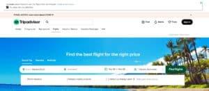 TripAdvisor من أفضل مواقع حجز تذاكر طيران منخفضة